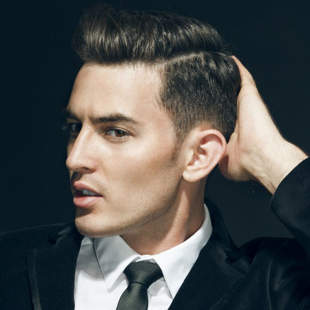 side cornrow hairstyles : Men Side Combed Hair Hairstyle The Side Slick Comb Over Hairstyle For ...