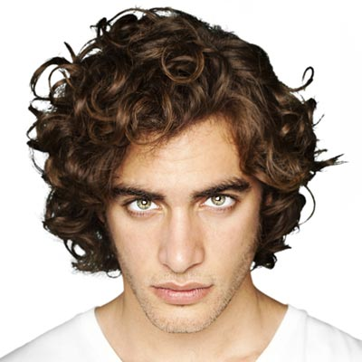 mens medium hairstyles brunette lavendar gray curly hairstyles for men