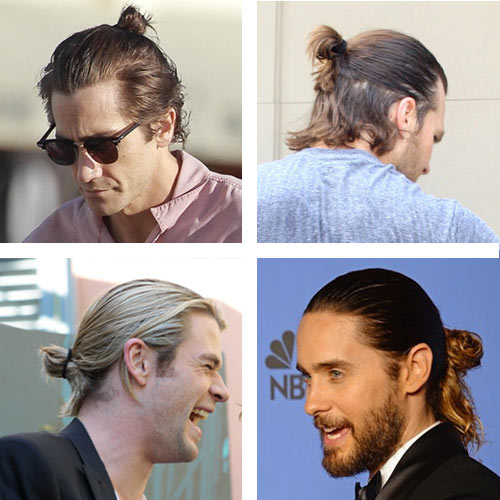 Celebrity Man Buns  The Man Bun: A brief history