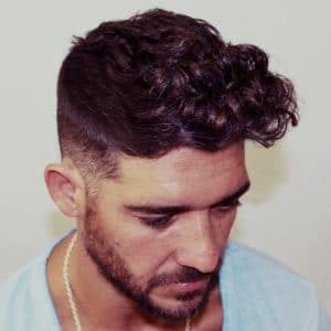 Wavy-Hair-with-Fade--zero5peluqueria