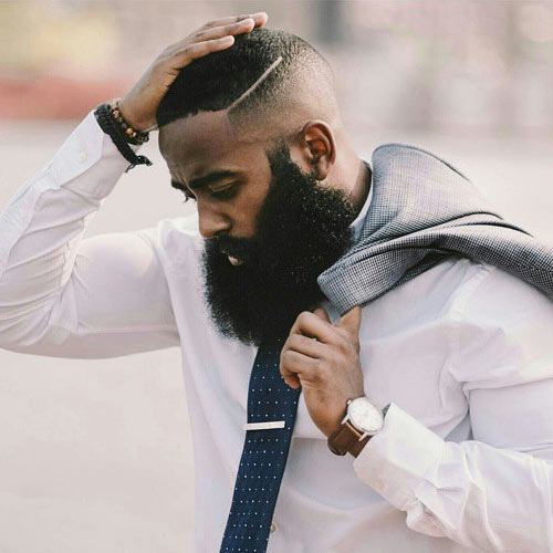 Black Men Haircuts And Beards Pictures to pin on Pinterest