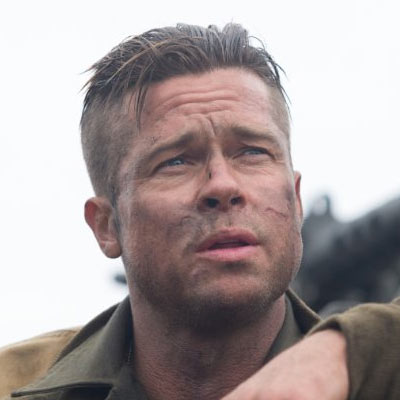Brad Pitt Fury Haircut - Army cut hairstyle 2014