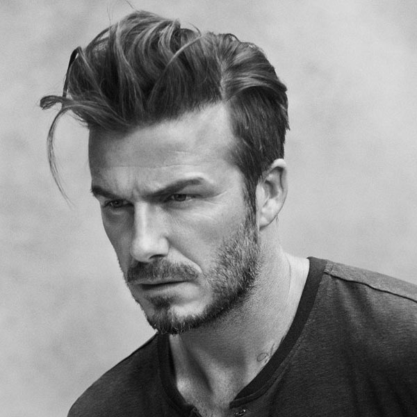 David Beckham Slick Back Undercut Hairstyle Male Models Picture