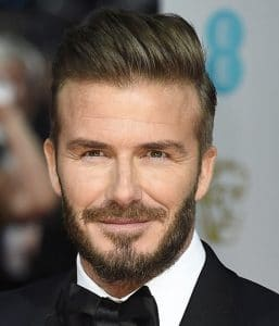 David Beckham Hair: 2015 BAFTAs