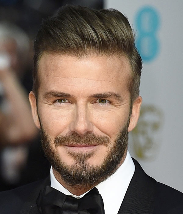 David Beckhams Hair BAFTAs - Latest hairstyle of beckham