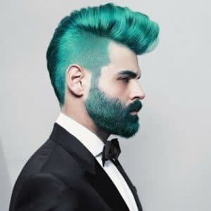 Colored Beard Styles: Green for St. Patrick's Day