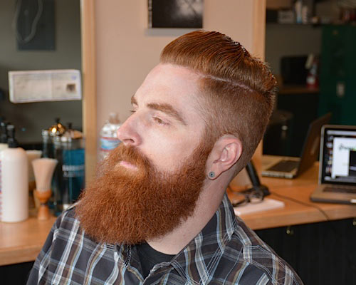 Barber-Brian-Burt-Slick-Hair-with-Beard-