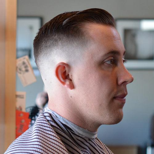 Barber Line Up : Vintage Slick Pompadour Styles: Barber Brian Burt