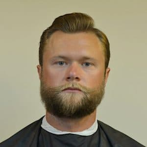 Side Part Pomp With A Beard by Barber Brian Burt