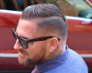 Shaved Part Hair Designs: Barber Brian Burt