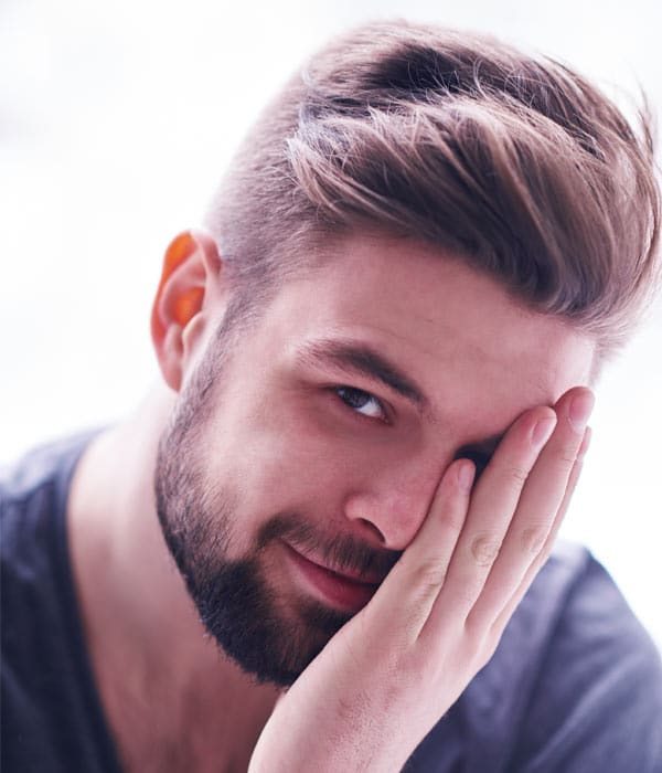 cool new haircuts for guys undercut with side part and beard 5237