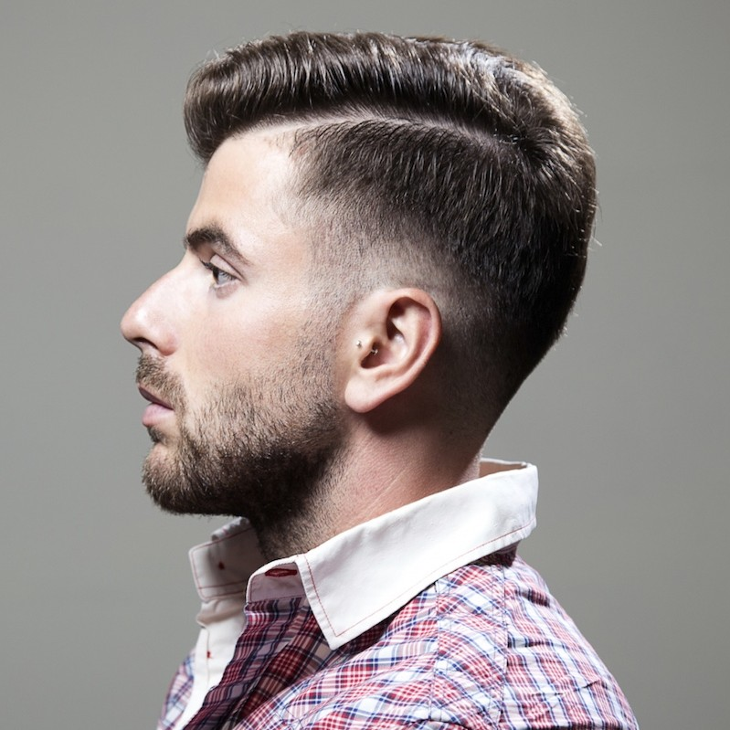 short back long front hairstyles : Mens Haircut With Lines On Side Popular mens haircuts : shaved sides