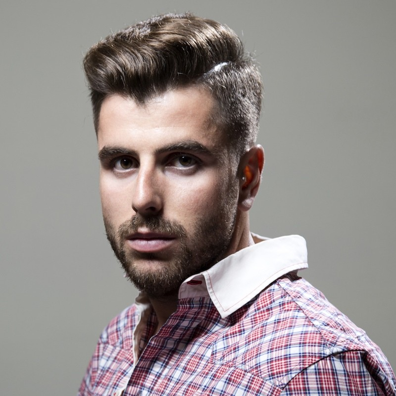 popular mens haircuts shaved sides front angle