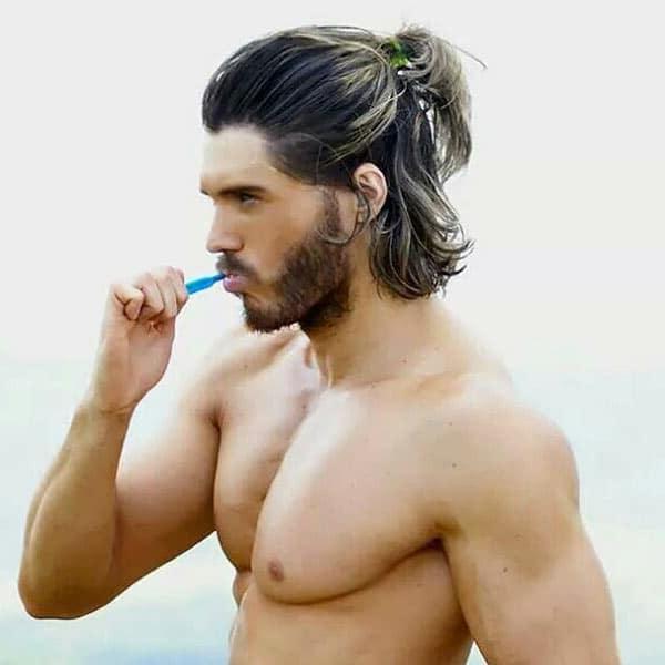 Pleasant Long Hair Hairstyles For Men Hairstyles For Men Maxibearus