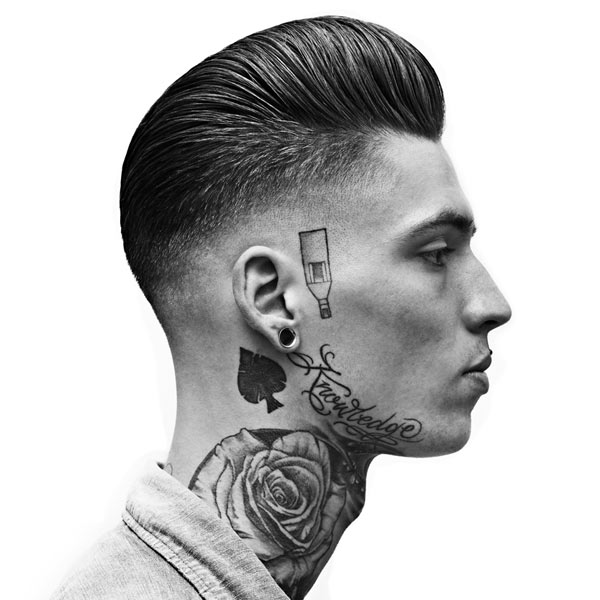 The low razor fade haircut this low skin fade starts at the temples and veers down to the nape of the neck in a straight line the contrast between hair and skin adds a cool diagonal urmus Gallery