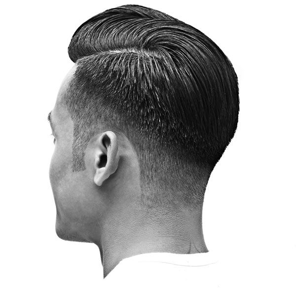 The low razor fade haircut from the side precision barbering creates a smooth transition from long hair down to very short the hair shape is a smooth arc instead of the natural urmus Gallery