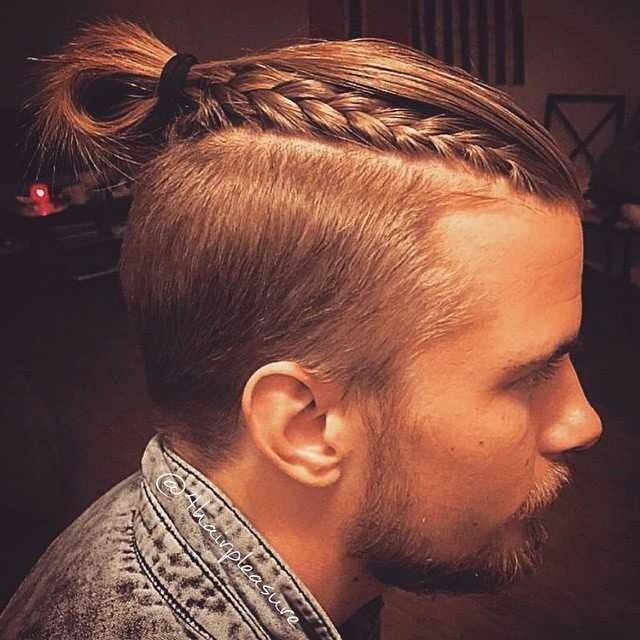man braid long hairstyle for men