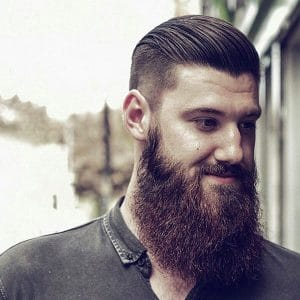 Beard Styles 2015: Long with Slick Hair
