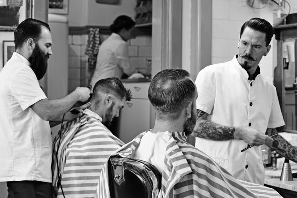 Barber Guide : Vintage Barber Hairstyle Guide Mens hairstyles + haircuts (tips + how ...