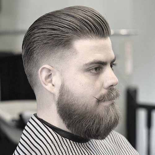 baldysbarbers_AND_fade and longer hair slicked back
