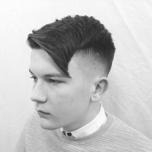 hayden_cassidy_AND_Angled Haircut With Textures On Top Raw Blade Fade