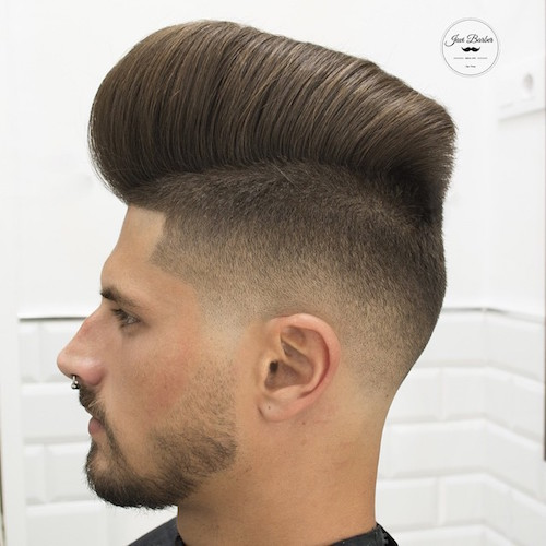 javi_thebarber__AND very tall pomp combover with fade haircut