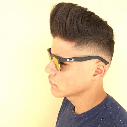 louis_thebarber_pr_AND_Corte_low fade and huge pompadour