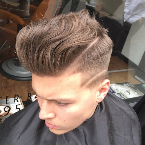menspiresalon long natural hair blow dried back hi lo fade