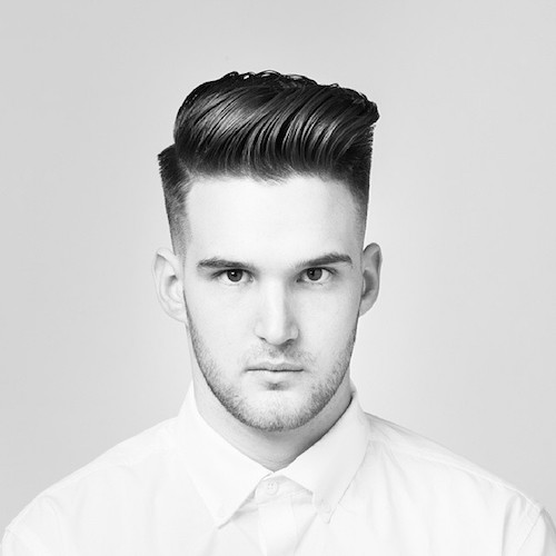atlasbarberco with thick medium hair length on top