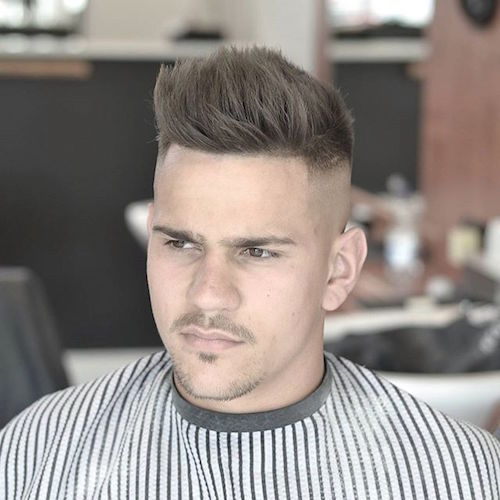 baldysbarbers signature skull fade with plenty of texture through the top