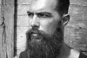 beardedvillains_davedriskell long beard slicked back hair