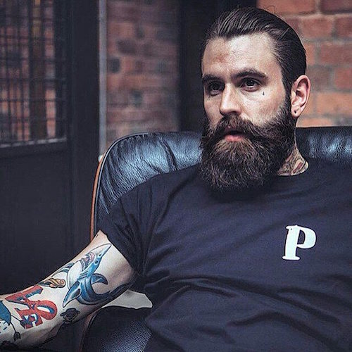 beardsaresexy_rickisamhall_slicked back hair and thick beard