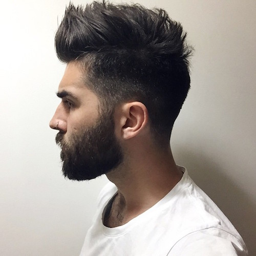 Good Texturized Medium Hair + Groomed Beard