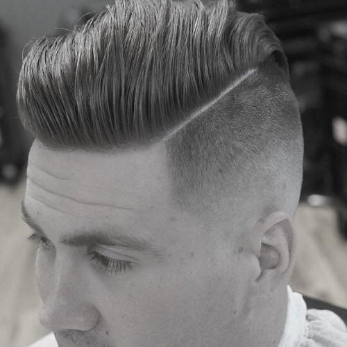 dtownpresident fine hard part high fade pomp