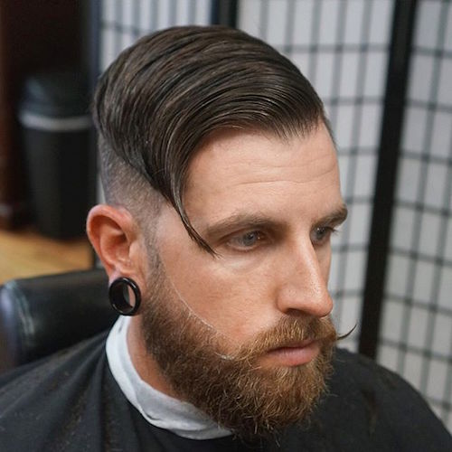 dtownpresident slicked undercut with beard