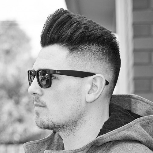 iranthebarber bald fade and modern style textured pomp