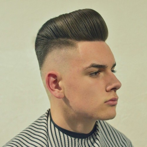 kieronthebarber big pomp with bald fade