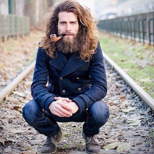 luca_sguazzini_long hair and full beard