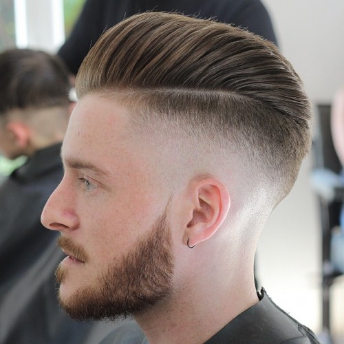 Bald Fade with Pompadour