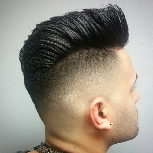 sky_salon high fade disconnected pompadour