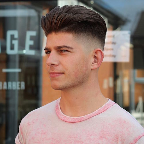daniellecorbett__bald fade and thick hair blow dried