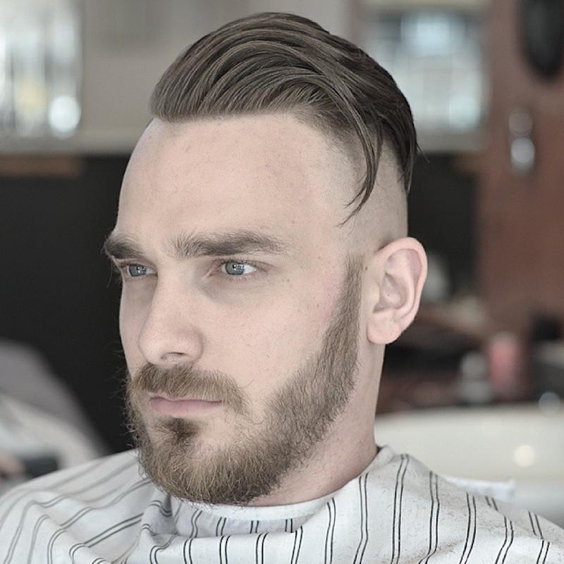 baldysbarbers_high balded fade and long hair disconnected beard