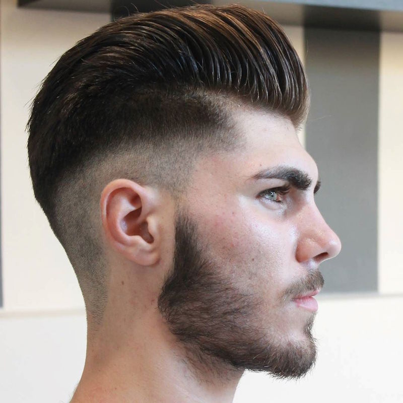 Barber Fade : cancela_barber_lo skin fade pompadour