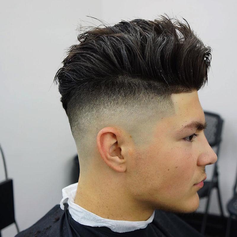 criztofferson_high skin fade and longer hair