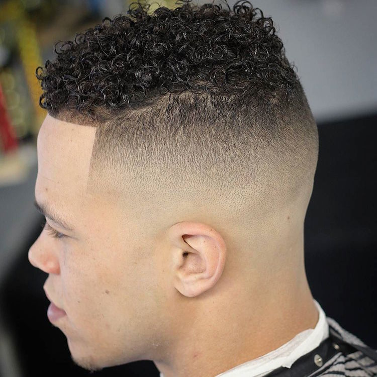 joelmasterbarber_and skin fade and natural curls