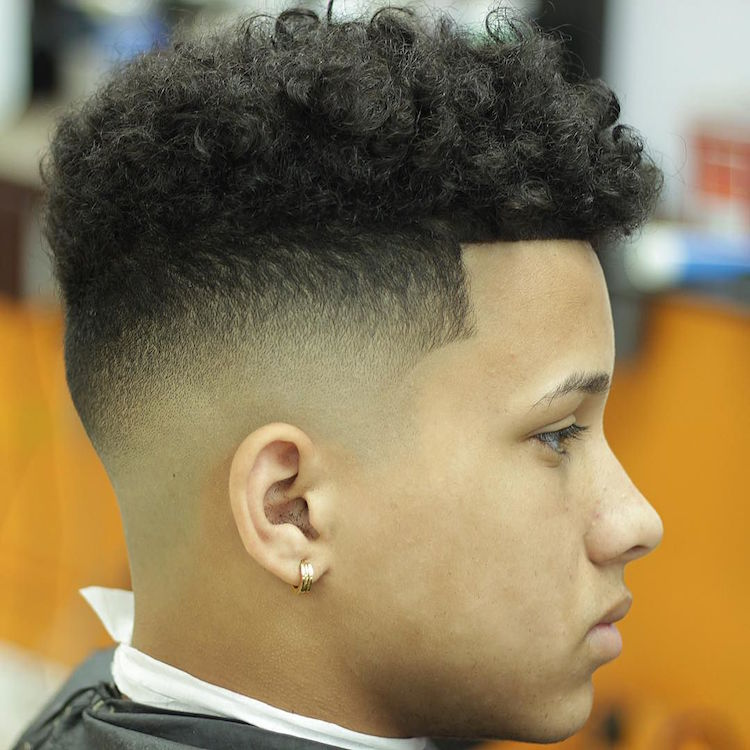 Curly high top fade  haircuts  Pinterest  High tops