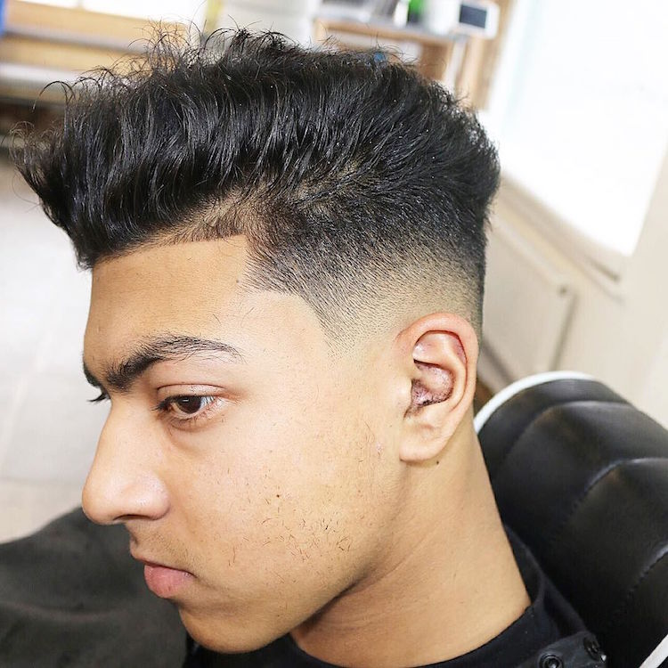 menspiresalon_and skin fade medium hair hairstyle for men