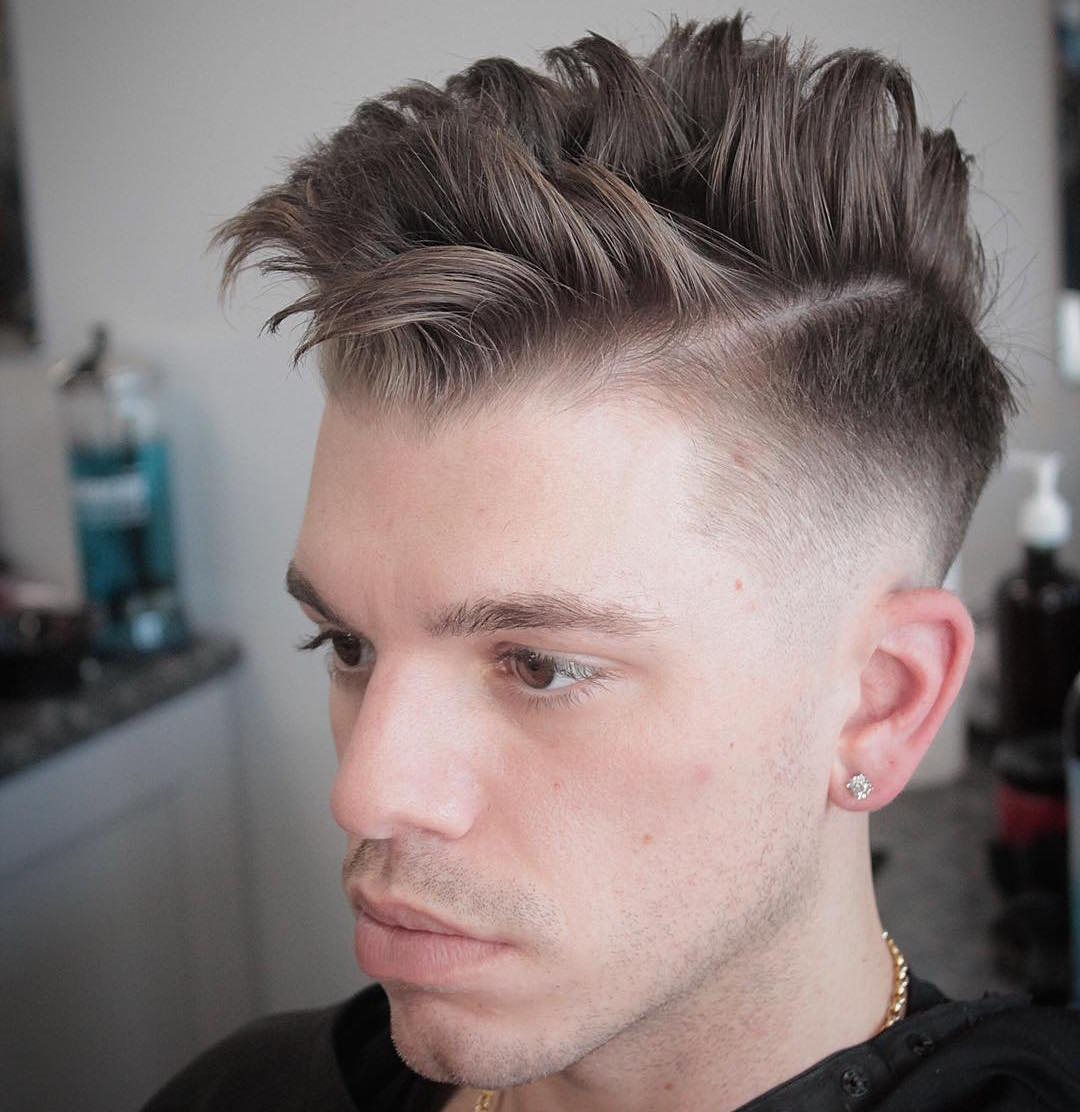 mikes_custom_kuts_high fade and separated choppy hair on top