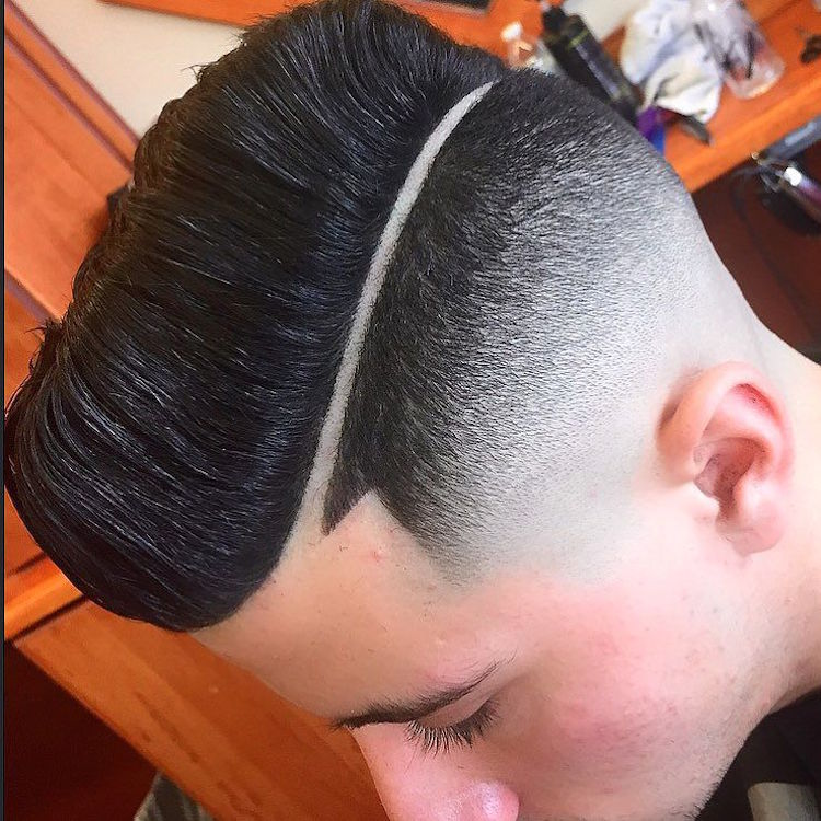 moody_oc_and bald fade hard part pomp