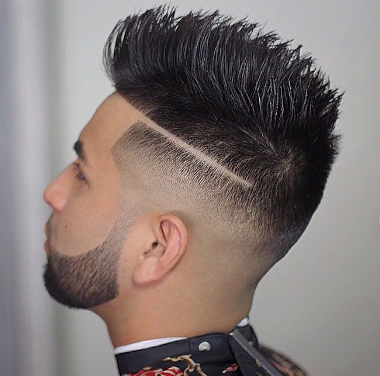 nastybarbers_hard part bald fade medium texturized hair